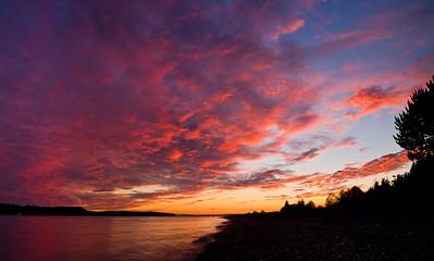 Sunset on Guemes Island, WA