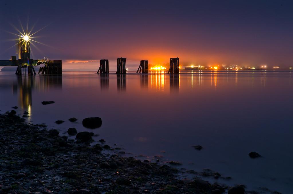 Ferry Dock on  Guemes Island, WA