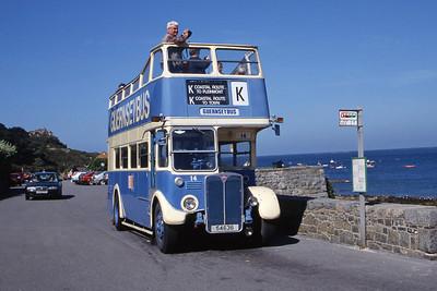 Guernseybus 014 Pleinmont 3 Sep 97