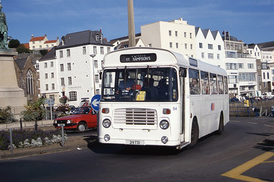 Guernseybus 054 Church Square St Peter Port Sep 97