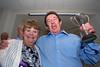 Douzeniers Katina Jones and Mike Garrett celebrate St Peter Port winning the Lady Dorey cup