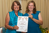 Rosie Wheeler accepts Special Commendation on behalf of Northern Trust at 2015 Floral Guernsey Awards