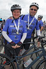 Ann and Eamonn Finnerty at the finish of the Rock to Rocque Bike Ride