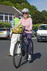 Rock to Rocque Bike Ride lady cyclist Rocquaine 240515 ©RLLord 2575 v smg