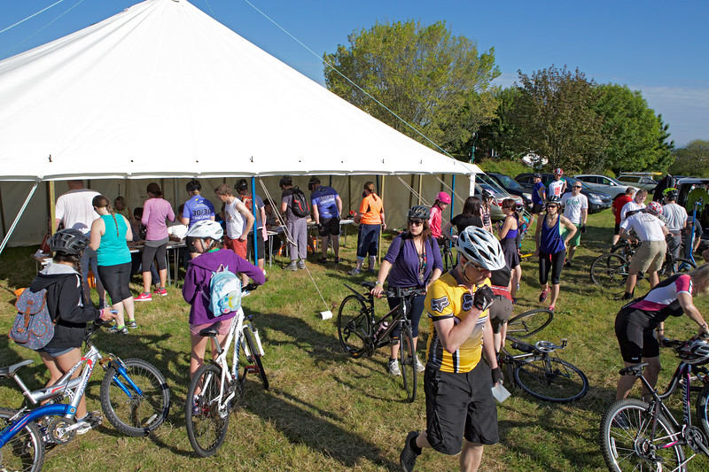Rock to Rocque Bike Ride registration at the top of Val des Terres, St Peter Port, Guernsey