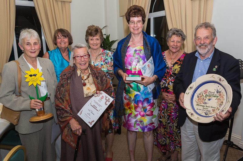 Forest Floral Group with their 2016 Floral Guernsey Awards