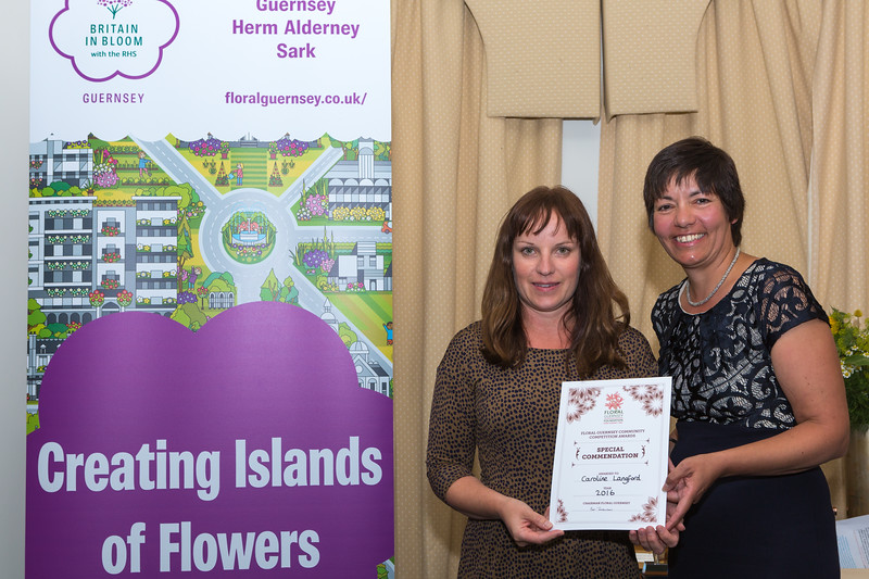 Lydia Bourne collects special commendation for Caroline Langford from  Sue Wood