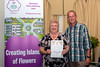 St Peter Port Constable Jenny Tasker receives a Gold Award for the St Peter Port Constables Office floral display