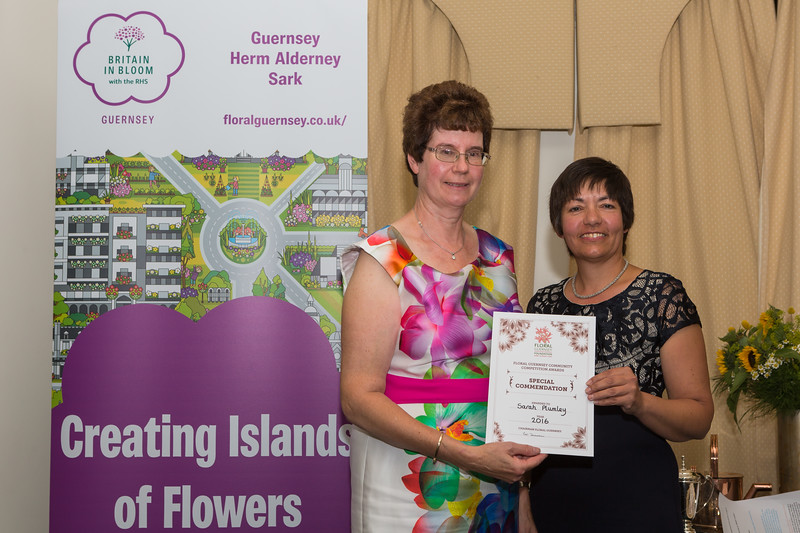 Floral Guernsey Awards Judge Sue Wood Sarah Plumley Special Commendation 080916 ©RLLord 2244 smg