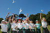 Amherst Primary School pupils deploy paper helicopters