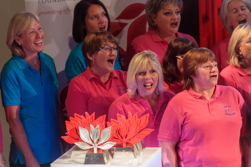 Guernsey Mind Hope Singers performing during the 2017 Guernsey Community Awards at St James Concert and Assembly Hall