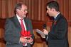 Rob Moore, ITV Channel Television, interviews Jurat Stephen Jones