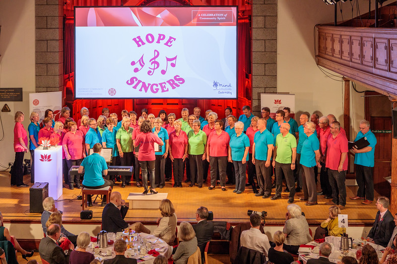 Guernsey Mind Hope Singers performing at The Community Awards 2017