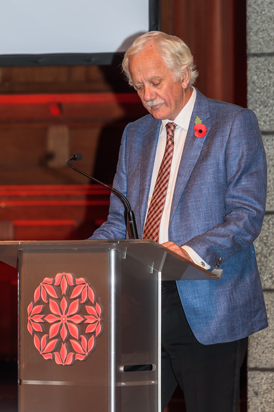 Stuart Falla MBE, Chair of Patrons, Guernsey Community Foundation, speaking at The 2017 Community Awards