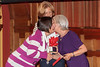 Dame Mary Perkins DBE greets Geraldine Williams, Activities Co-ordinator of Headway Guernsey