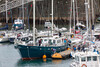 Fantastiko preparing to leave St Peter Port harbour, Guernsey