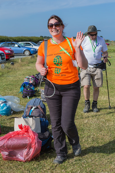 Saffery Rotary Walk Emily Litten arriving at Bordeaux check-in desk 110616 ©RLLord 3533 smg