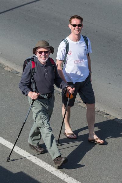 World Aid Walk walkers Les Banques Andy Graham 050514 ©RLLord 1219 v smg