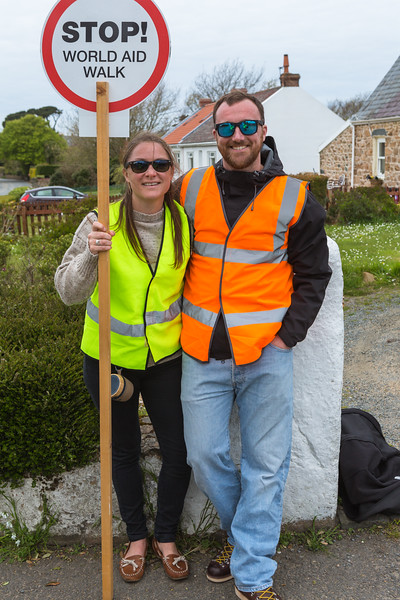 Guernsey World Aid Walk volunteer crossing guards