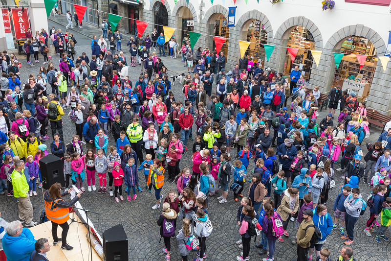 2016 Guernsey World Aid Walk walkers gather in Market Square for the start