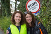 Guernsey World Aid Walk chair thanks a street crossing guard
