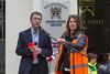 Deputy Bailiff Richard McMahon blasts the horn to start the 2016 Guernsey World Aid Walk