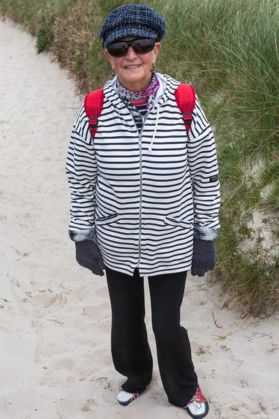 Guernsey World Aid Walk walker on Port Soif coastal path