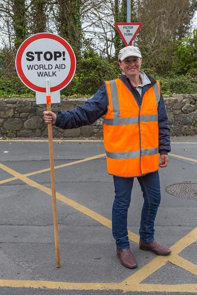 2016 Guernsey World Aid Walk volunteer crossing guard