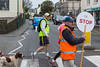 Guernsey World Aid Walk volunteer crossing guard on Vale Avenue