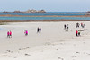 2016 Guernsey World Aid Walk walkers cross Cobo Beach