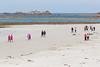 2016 Guernsey World Aid Walk walkers cross Cobo Beach
