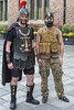 Centurion and Mad Max character at start of the 2016 Guernsey World Aid Walk