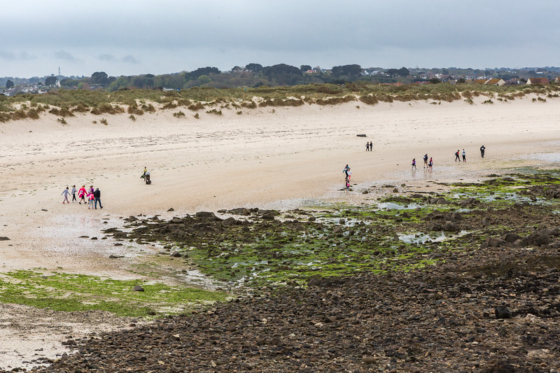 Guernsey World Aid Walk walkers take to the beach at Port Soif