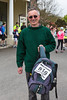 John Ogier arrives at Vale Douzaine during Guernsey World Aid Walk