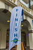 2015 Guernsey World Aid Walk finish banner in Market Square