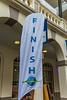 2015 Guernsey World Aid Walk finish banner in Market Square