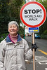 Volunteer Guernsey World Aid Walk traffic marshall