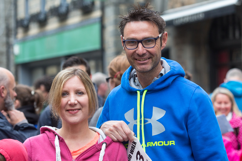 Caroline and Warren Mauger at the start of the 2016 Guernsey World Aid Walk