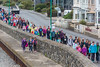 Guernsey World Aid Walk walkers along Les Banques