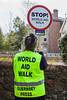 Guernsey World Aid Walk traffic marshall stop sign 030510 ©RLLord 2012 v smg