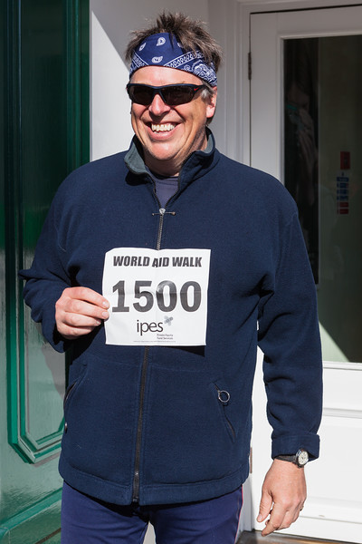 Julian Winser participates in World Aid Walk