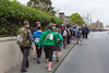 Guernsey World Aid Walk walkers on Grandes Maison Road, St Sampson