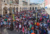 A crowd congregates for the start of World Aid Walk in Guernsey