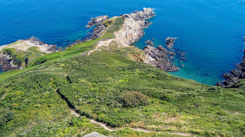 St Martin's Point forming the tip of Guernsey's south-east coast