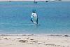 Wind surfing in Ladies Bay, Guernsey