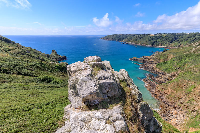 Guernsey south coast overlooking Petit Port and Moulin Huet