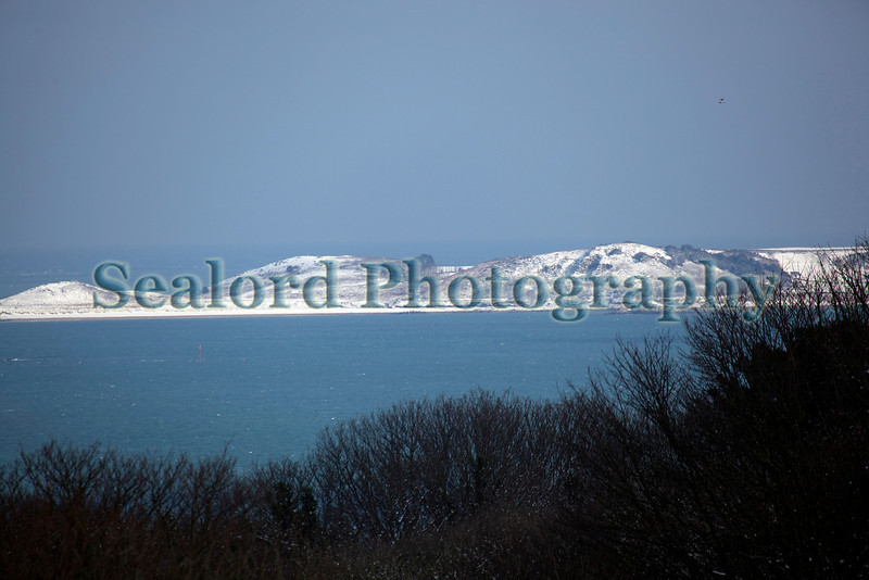 Snow covered Herm Island on 2 February 2009