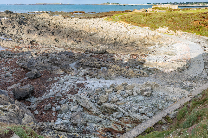 Small bay south of Fort Pezeries, Pleinmont on Guernsey's south west coast on 9th October 2020