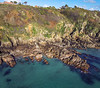 Guernsey south coast cliffs between Moulin Huet and Petit Port on 4th November 2020