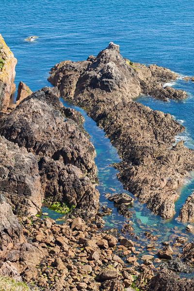 Pointe de la Moye rocky sea shore v 020711 ©RLLord 9688 smg